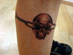 Rock Climbing Photo: More pics of new tattoo