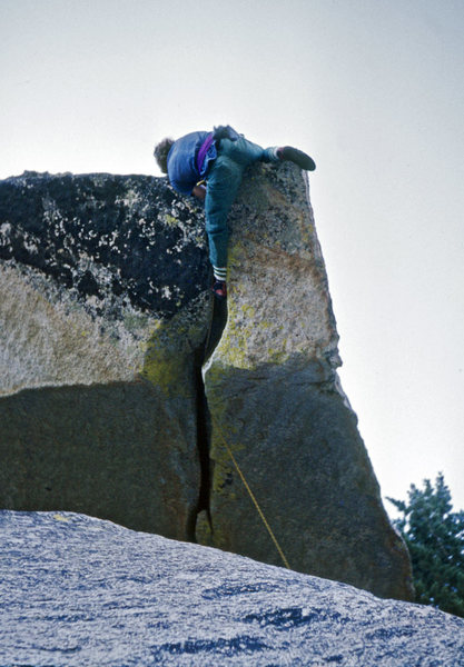 Rock Climbing Photo: John Long on First Free Ascent of Paisano Overhang...