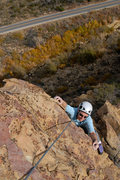 Rock Climbing Photo: Marisa Fienup pulls the final few moves before rea...