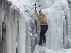 Rock Climbing Photo: Me climbing ice for the second time ever