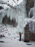 Rock Climbing Photo: Gives a good view of the ice that is forming