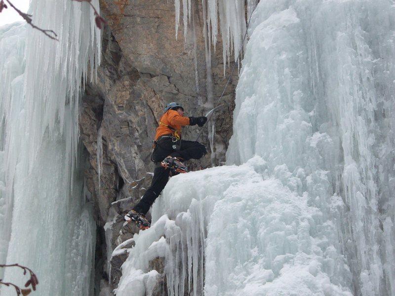 Rock Climbing Photo: Matt having some fun!