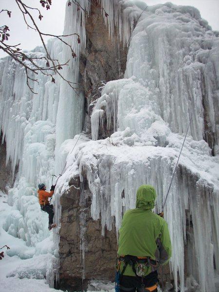 Matt and Rob enjoying some fun ice.