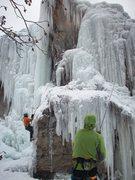 Rock Climbing Photo: Matt and Rob enjoying some fun ice.