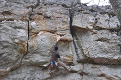 i use funny beta. i go kinda slow off a right hand on what would normally be a left. push up with the left foot to bump off a crappy slope onto the jug(crux move)