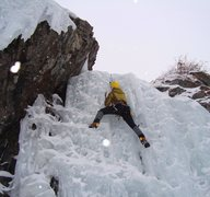 Rock Climbing Photo: Eric following Mark Cushman on Center Flow Slab.