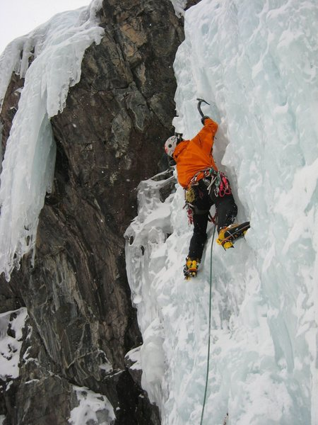 Rock Climbing Photo: Me starting the CFS.   Photo by Scott Borger, scot...