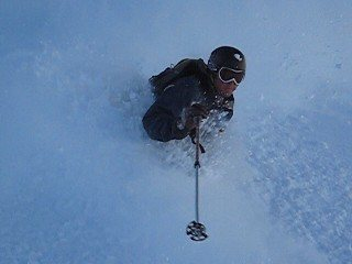 Rock Climbing Photo: ski shot