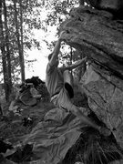Rock Climbing Photo: Jon making moves on Thenar
