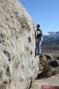Rock Climbing Photo: Mid Crux on Funky Tut, V3