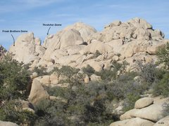 Rock Climbing Photo: Thrutcher Dome from the trail into the Wonderland