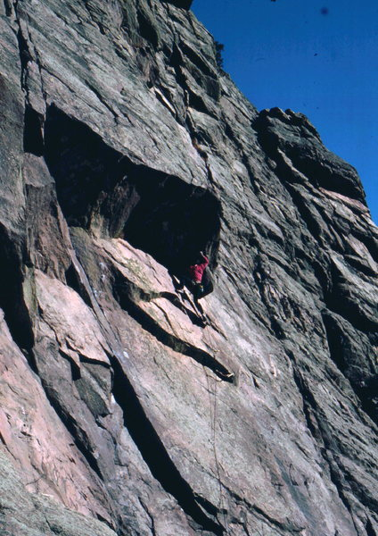 Rock Climbing Photo: Bob Horan on 2nd lead of Salvation.