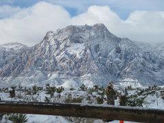 Rock Climbing Photo: Mt. Wilson on 12/15/08