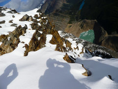 Rock Climbing Photo: On Mt Edith Cavell