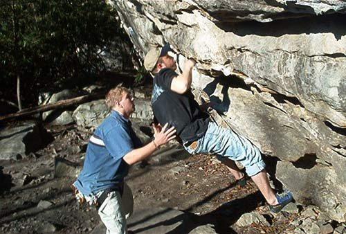 Rock Climbing Photo: D.C. Memorial Boulder Summersville WV