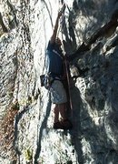 Rock Climbing Photo: Danial Adkins on That 8 5.7 Summersville Lake WV