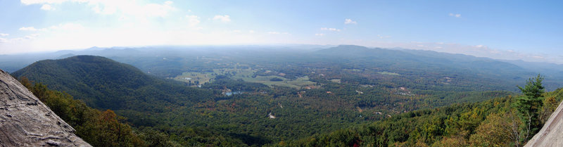Rock Climbing Photo: Panorama from the top of the main wall.