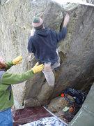 Rock Climbing Photo: Paul throwin' big!