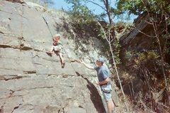 Rock Climbing Photo: Evan Kingrey's first rock climb.