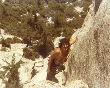 Rock Climbing Photo: Bruce Diffenbaugh on Ski Tracks '81 or '82.