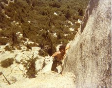 Rock Climbing Photo: Bruce Diffenbaugh on Ski Tracks '81 or '82.
