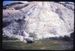 Rock Climbing Photo: Big Rock in the early 80's when you could park at ...