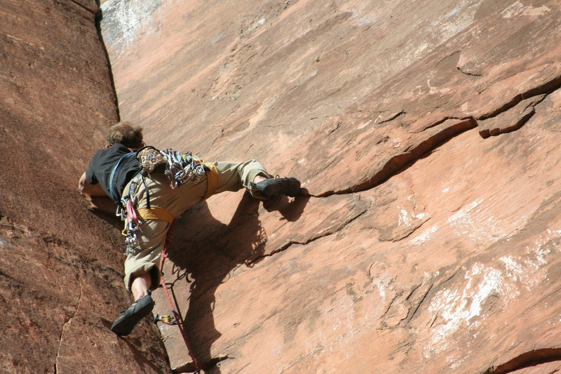 Start of the crux