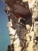 Rock Climbing Photo: Fun Roof, West Face.  Gwian Oka climbing.  1st asc...