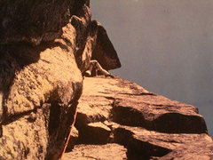 Rock Climbing Photo: Graymatter, 5.11c, the first 5.11 done at Chimney ...