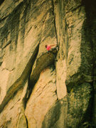 Rock Climbing Photo: The roof pitch of Illusions/Free Friends, 5.11a, E...