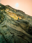 Rock Climbing Photo: Jay Koopsen and Dane Burns on the 2nd pitch of Tsu...
