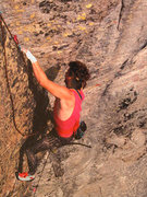 Rock Climbing Photo: The thin crack of ILLUSIONS, East Face of Chiney R...