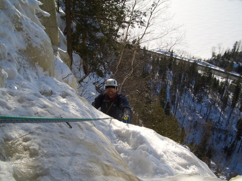 Rock Climbing Photo: Seconding some route in Nipigon, forgot which.  I ...