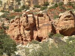 Rock Climbing Photo: Wrangler Hero is the left angling splitter crack i...