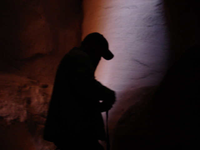 Deep in a slot canyon, somewhere on the colorado plateau