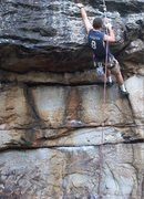Rock Climbing Photo: Rocky Mcdonald on the pinicky route 5.10d, Beauty ...