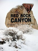 Rock Climbing Photo: Red Rock Canyon getting blasted with snow. Sorry v...