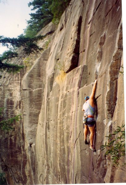 Rock Climbing Photo: FA at secret crag early 1990's