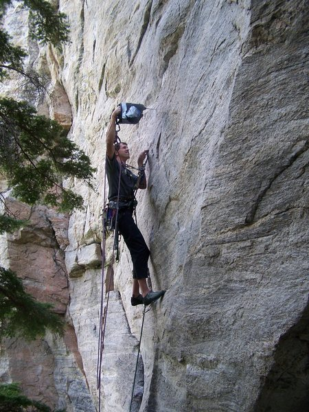 Rock Climbing Photo: FA'ing in fine style
