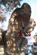 Rock Climbing Photo: Moving passed the good pockets on I Am a Pathetic ...