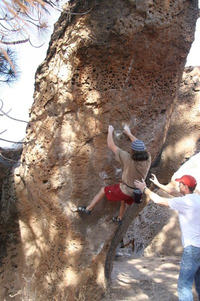 Rock Climbing Photo: The start of the better holds on I Am a Pathetic B...