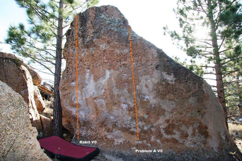 Rock Climbing Photo: Rabit Boulder Topo