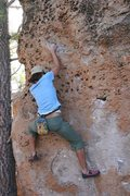 Rock Climbing Photo: Jeudy on Rabit, V0