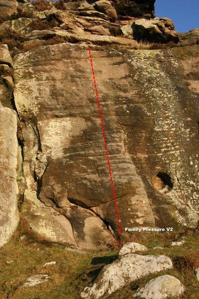 Rock Climbing Photo: Family Pressure Topo
