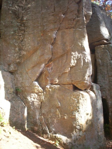Rock Climbing Photo: lower portion of face