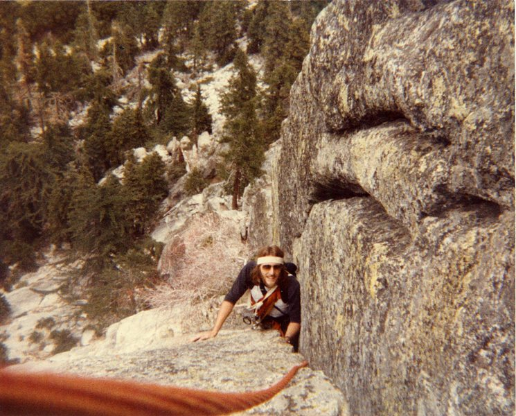 Rock Climbing Photo: First multi pitch climb White Maiden with my broth...
