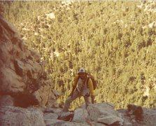 Rock Climbing Photo: Doug at the top of the Lark.