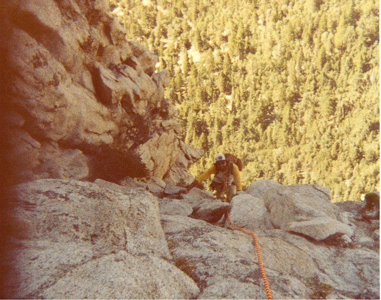 Rock Climbing Photo: Doug topping out on the Lark.