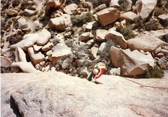 Rock Climbing Photo: Rob Mulligan following on pitch 2 of Swept Away.