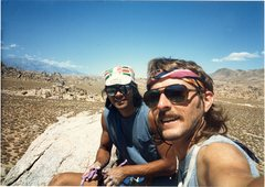 Rock Climbing Photo: Rob Mulligan and I in the Alabama Hills on top of ...